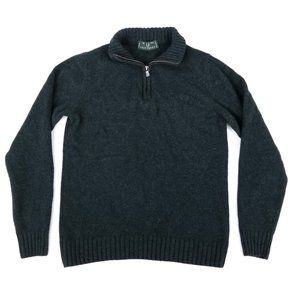 FRED PERRY | Knitted Wool Quarter Zip Sweater S